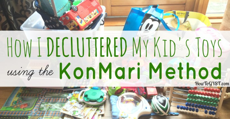 Decluttering toys with the KonMari Method