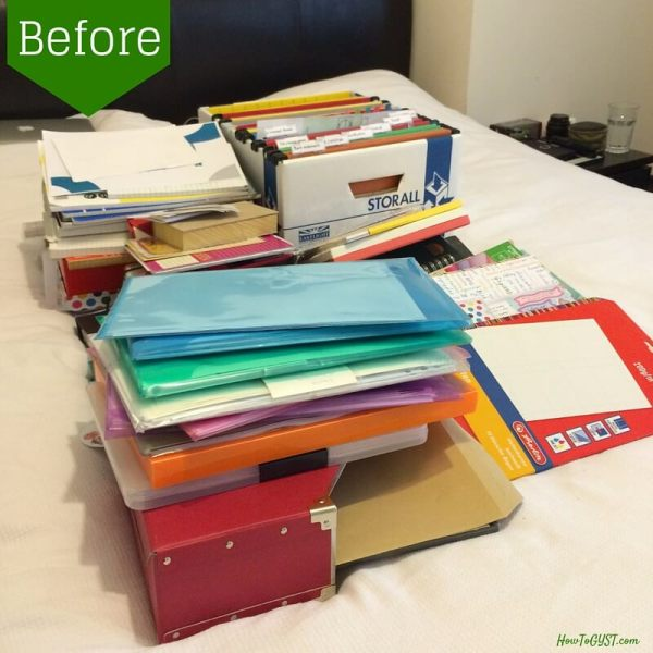 Really useful tips for completing category 3 of the KonMari Method -- 'Paper'. And a great KonMari checklist too!