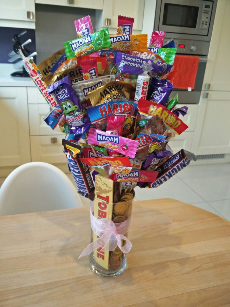 17 things I learned in 2017 –candy bouquet