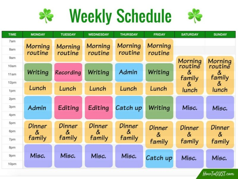 Use block scheduling to save time & get everything done | Block schedule | Increased productivity | Get more done | Get things done | Weekly schedule