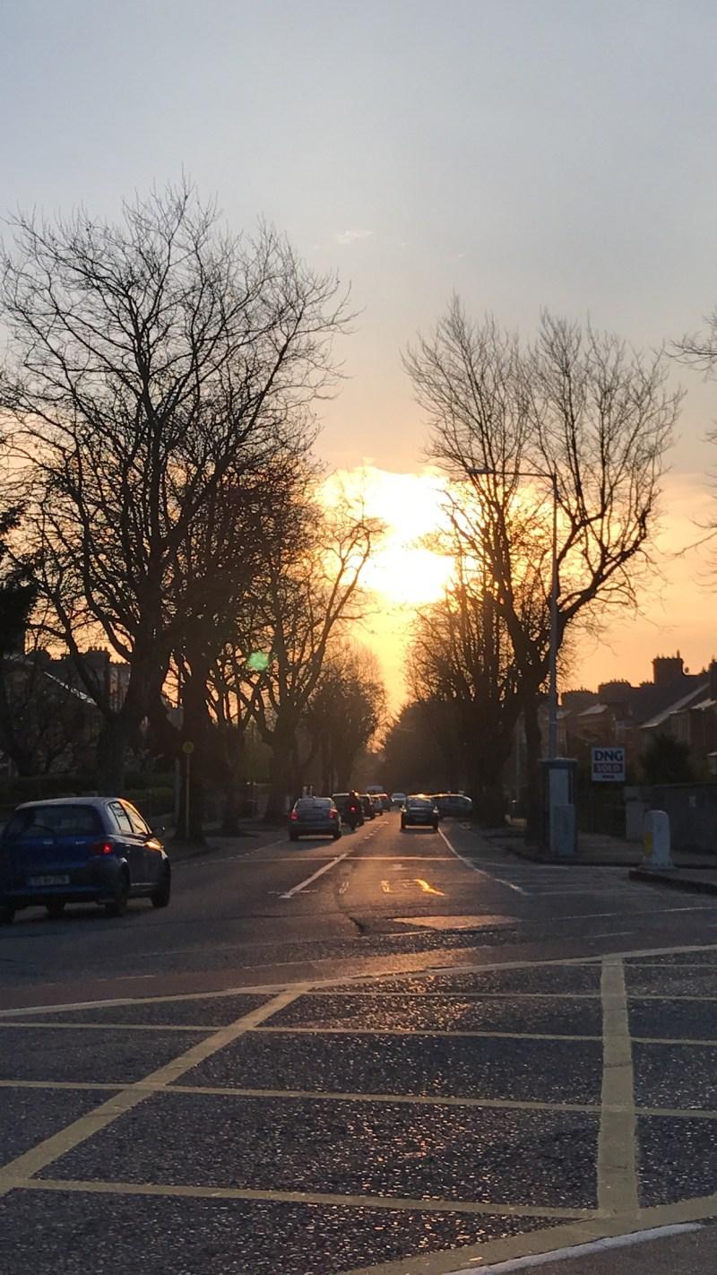 17 things I learned in 2017 – sunrise on Eglinton Road, Dublin 6