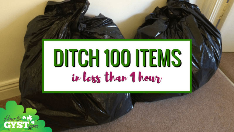 How to declutter 100 items from your home in less than an hour | Decluttering 100 things during your lunch hour | Minimalism | Downsizing
