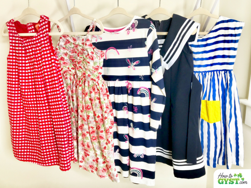 Sunday Habits   Choose your kids' outfits for the week   Line up of outfits