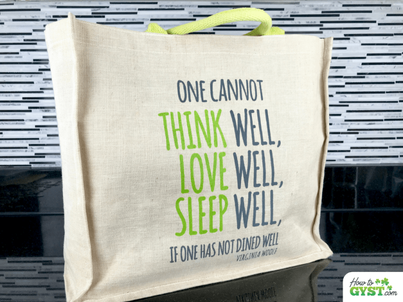 Ways To Reduce Waste – Canvas Reusable Shopping Bag