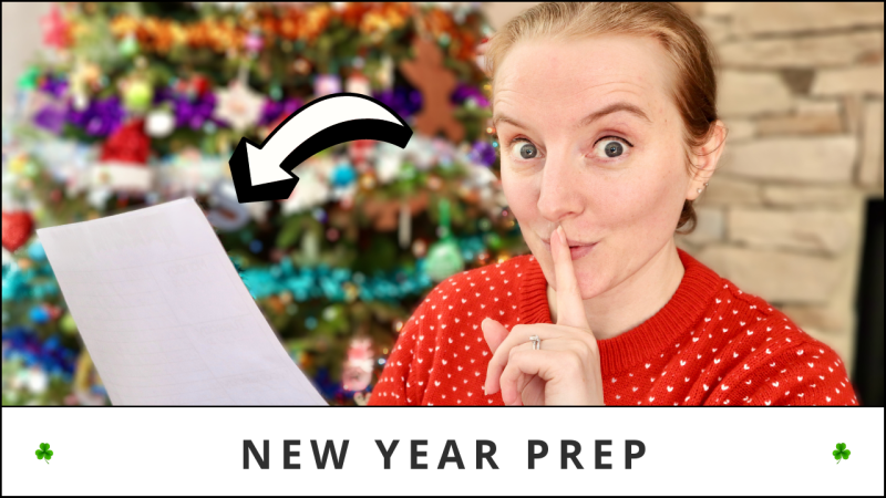 New Year Planning • How To Plan For A New Year & Start Fresh • Planning For A New Year