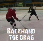 how to do the backhand toe drag in hockey