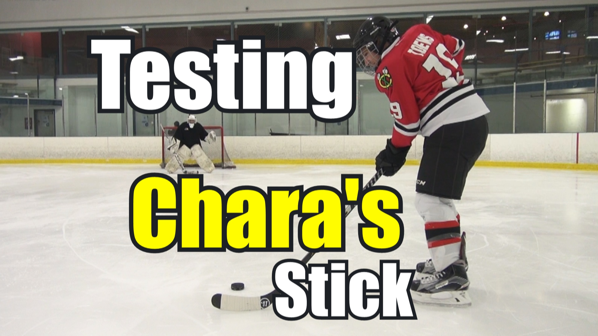 Beer Leaguers try Chara's Stick