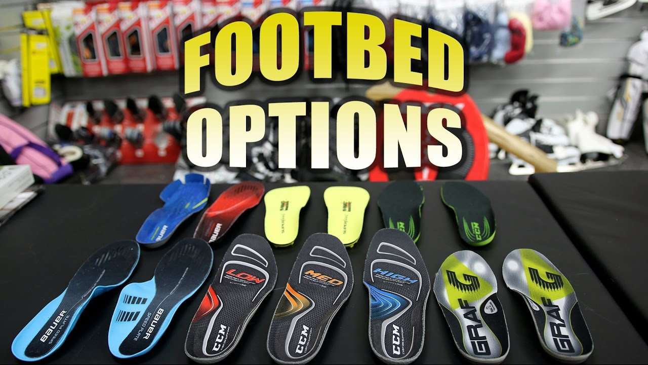 Footbed/Insole Options to Reduce Foot Pain for Hockey Players