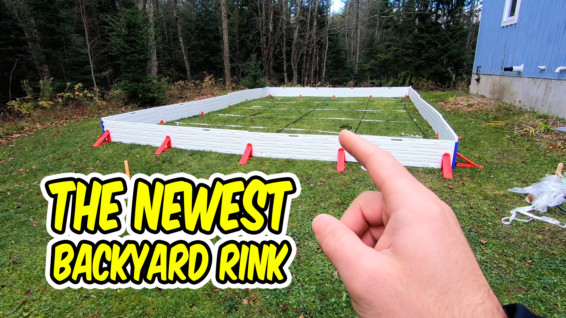 Testing A New Easy Backyard Rink Kit