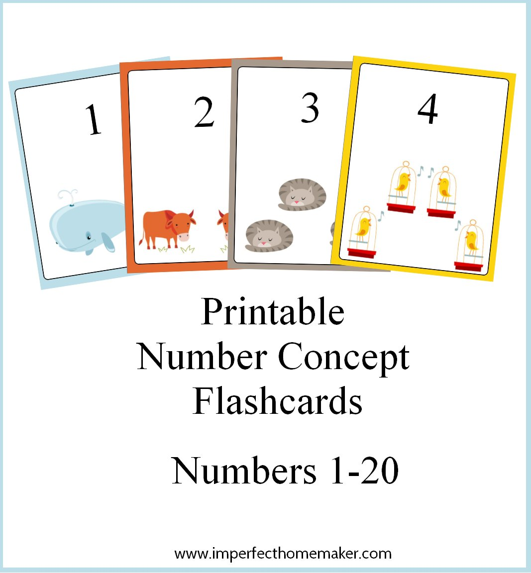 Free Printable Number Concept Flashcards