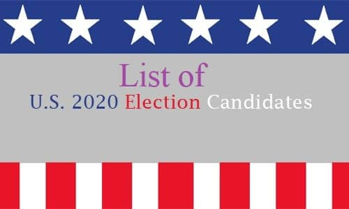 2020 Presidential Candidates List - 2020 Elections Candidates Still Running for President
