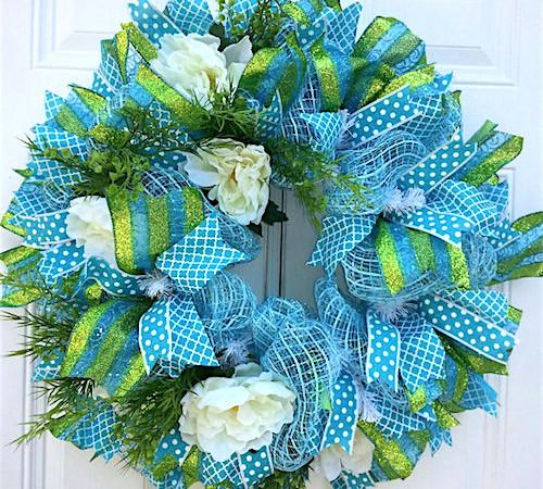 Spring Wreath Ideas How To Make A Deco Mesh Wreath