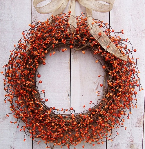 Creative Fall Decorating Ideas for a Grapevine Wreath grapevine wreath fall decorating ideas