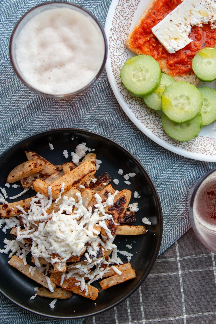 Delicious Kohlrabi Fries