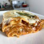 a piece of turkey lasagna