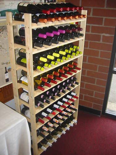120 bottle rustic wood wine rack