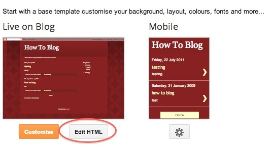 Template settings Blogger