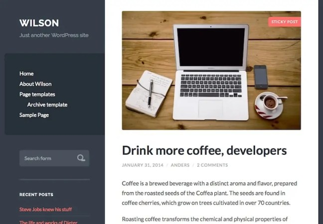 Wilson WordPress Theme