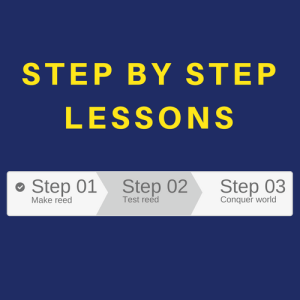 Step by step instructions for making oboe reeds