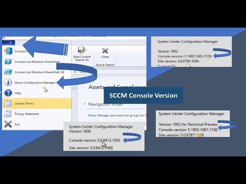 SCCM Console Version