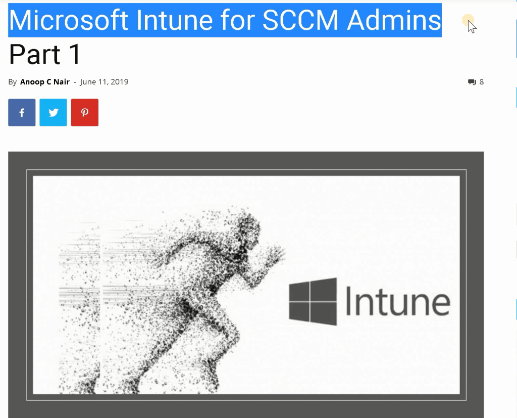 Microsoft Intune Training for SCCM Admins - Introduction