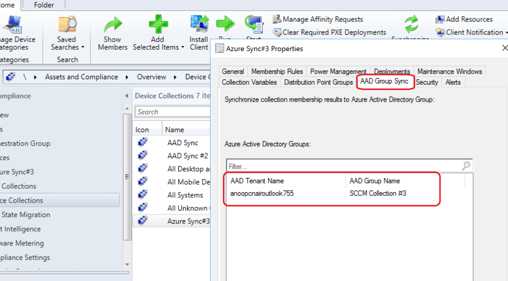 SCCM Collection AAD Group Sync - Add Azure AD Group
