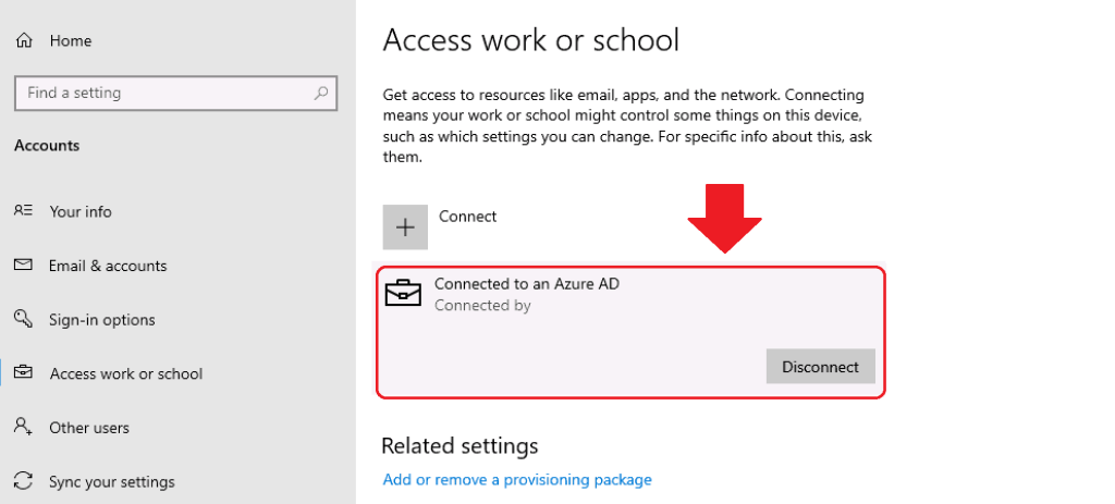Connected to an Azure AD - Connect to Azure AD Joined Virtual Machine