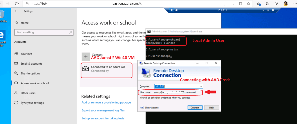 How to Take RDP of Azure AD Joined Azure VM using Bastion 2