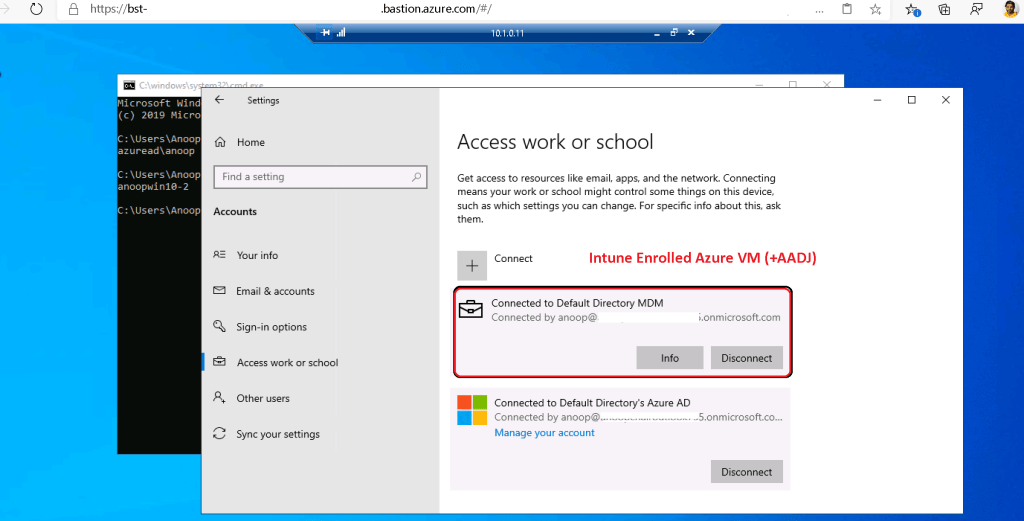 Intune Enrolled Azure VM + Azure AD Join