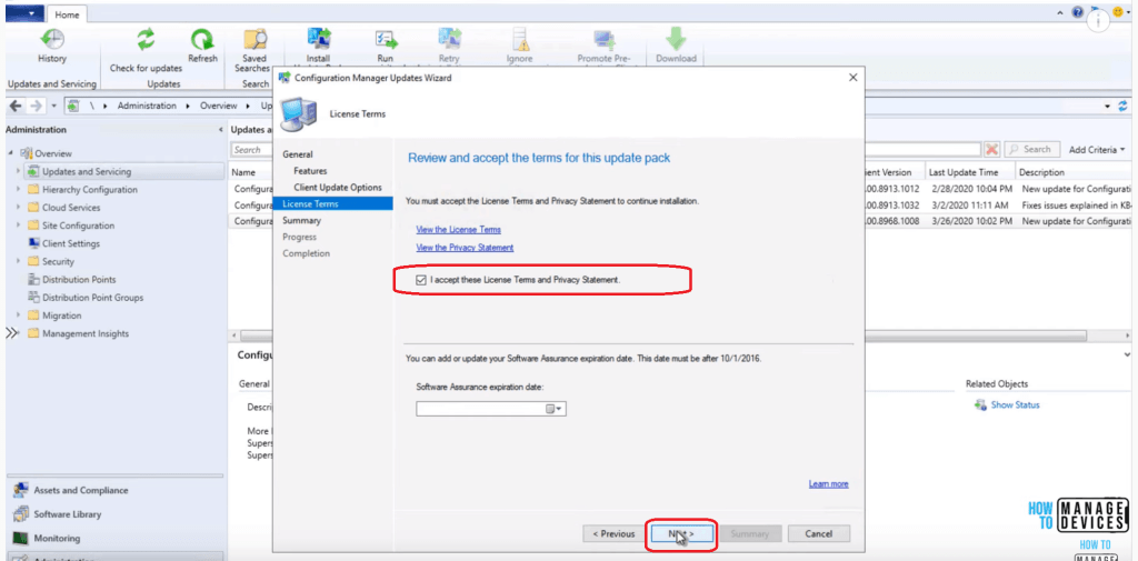License Agreement - SCCM 2002 Installation Step by Step Guide