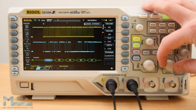 Rigol DS1054Z SPI and I2C decoding