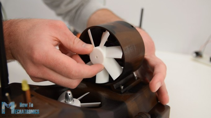 3d printed propeller - attaching it to the brushless motor