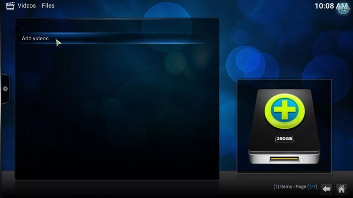 add video file to Kodi's library