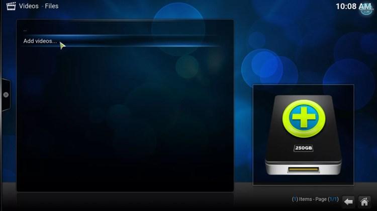 add video file to Kodi's library