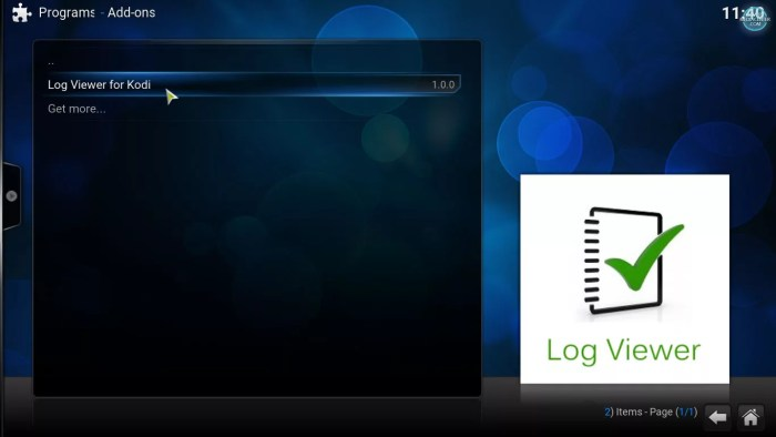Log Viewer for Kodi addon