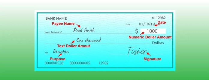 How to write out a check with cents