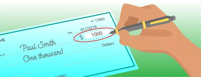 How to write a check - . Amount in numerical form