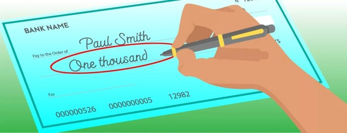 How to write a check - Amount in words