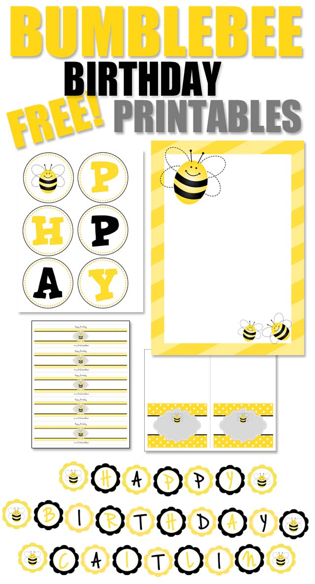 bumblebee birthday party with free