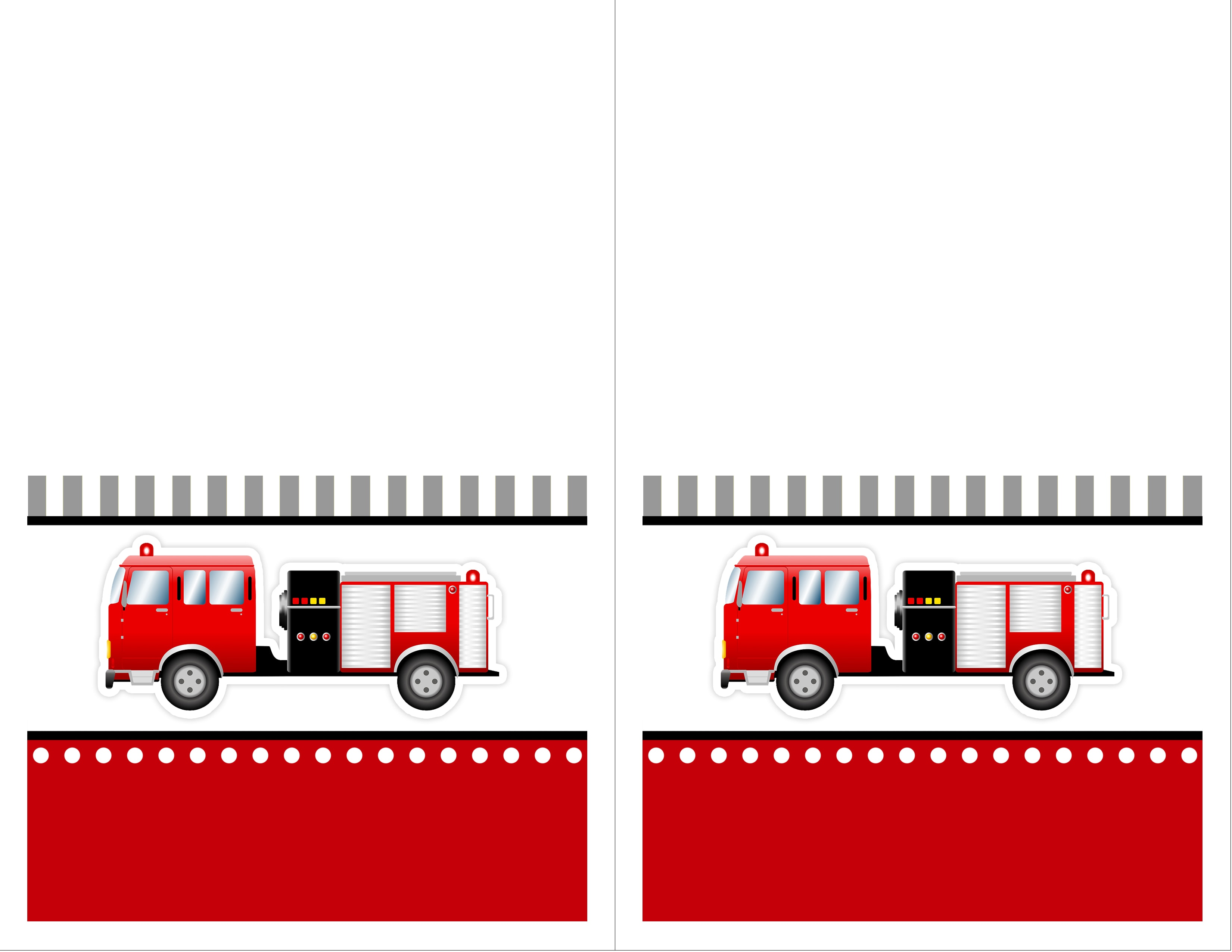 fire truck birthday party with free