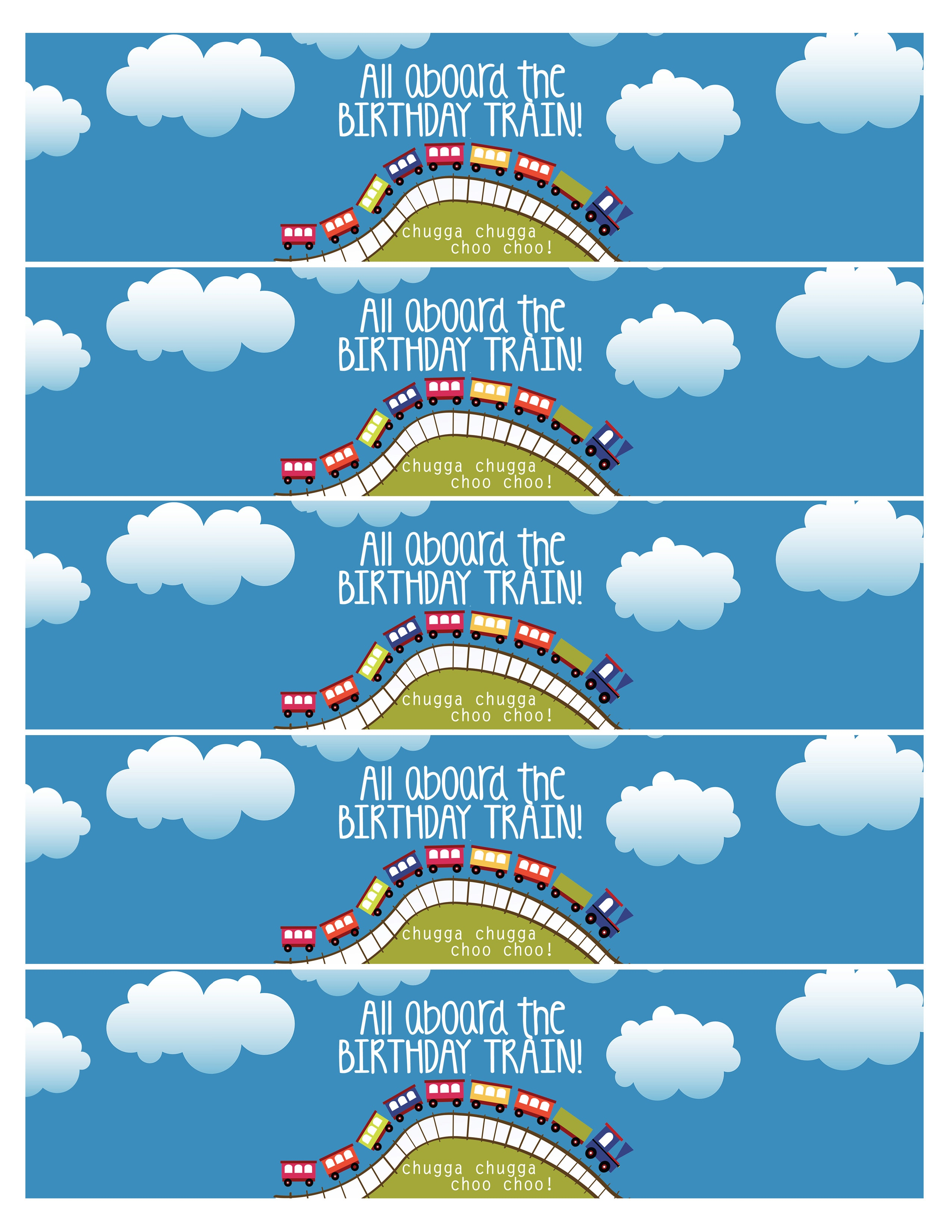 Train Birthday Party With Free Printables