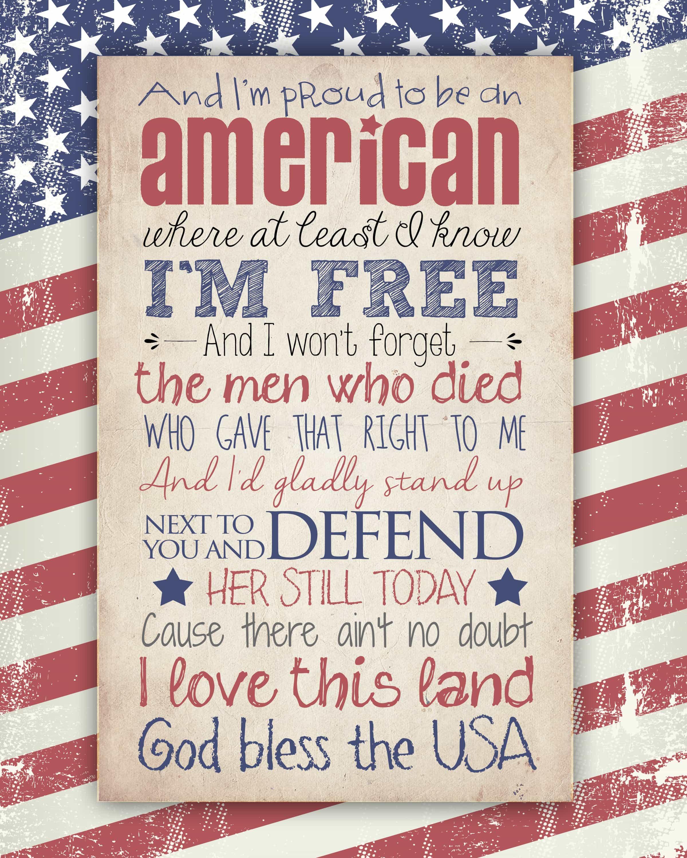 God Bless The Usa Free Printable