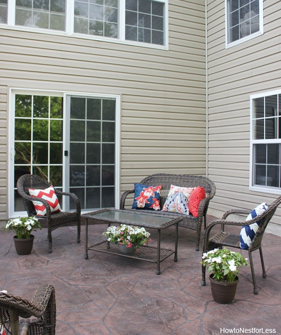 Backyard Patio Makeover - How to Nest for Less™ on Backyard Patio Makeover id=47474