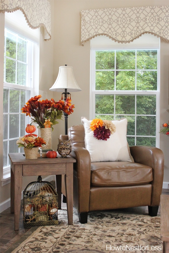 Fall Decorating on a Budget   How to Nest for Less       fall home decorations dollar general