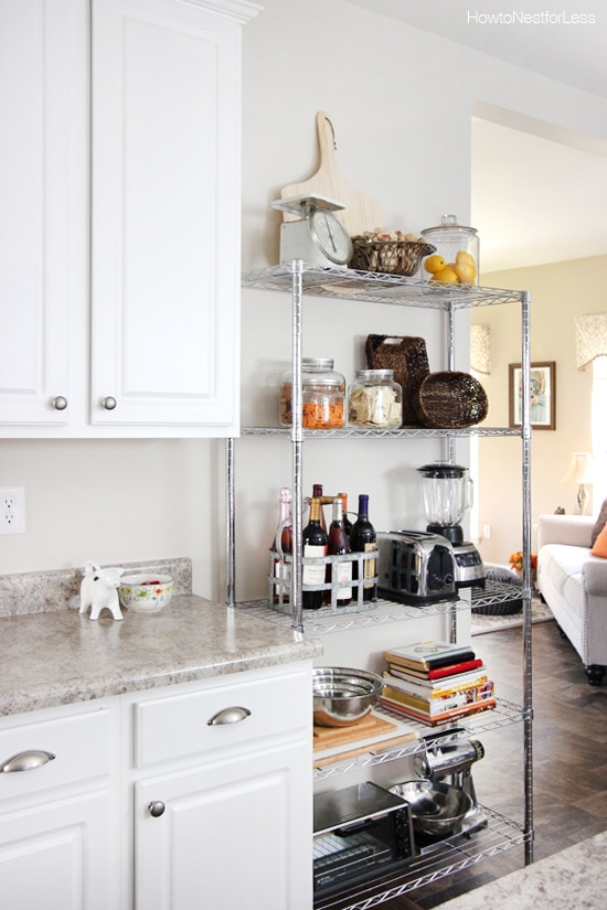 Kitchen Metal Shelving Unit