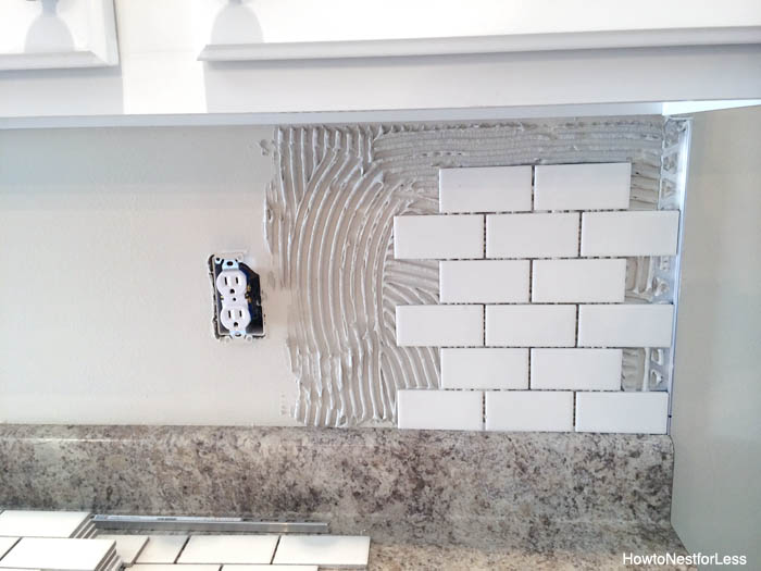 how to install a kitchen backsplash