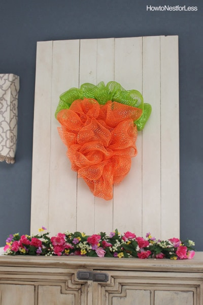 Easter Mesh Carrot Wreath How To Nest For Less