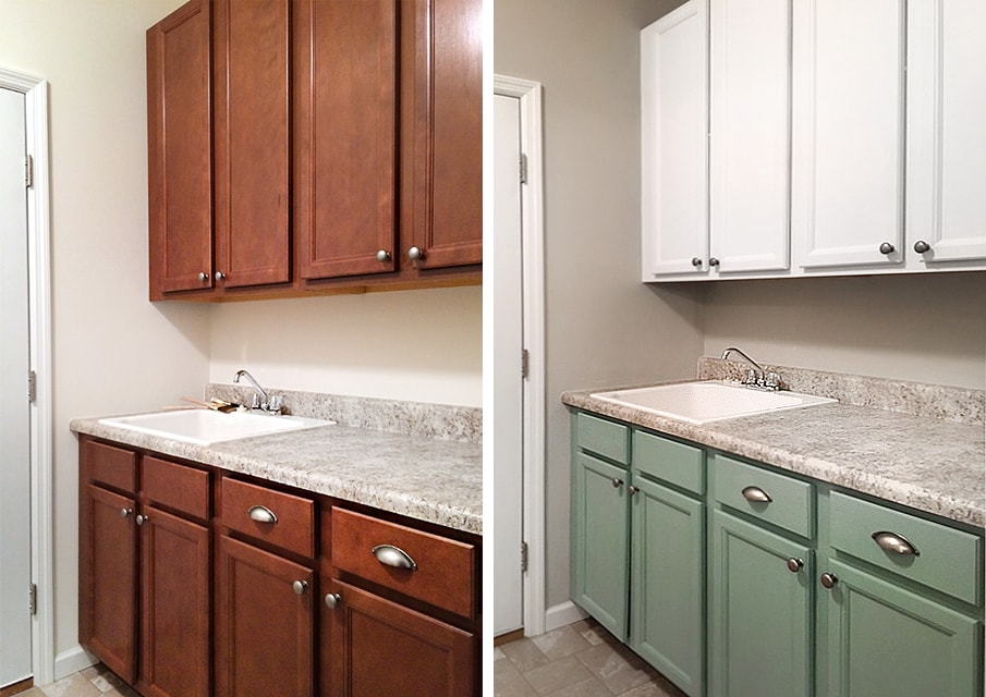 Painted Laundry Room Cabinets - How to Nest for Less™ on Laundry Room Cabinets  id=74259