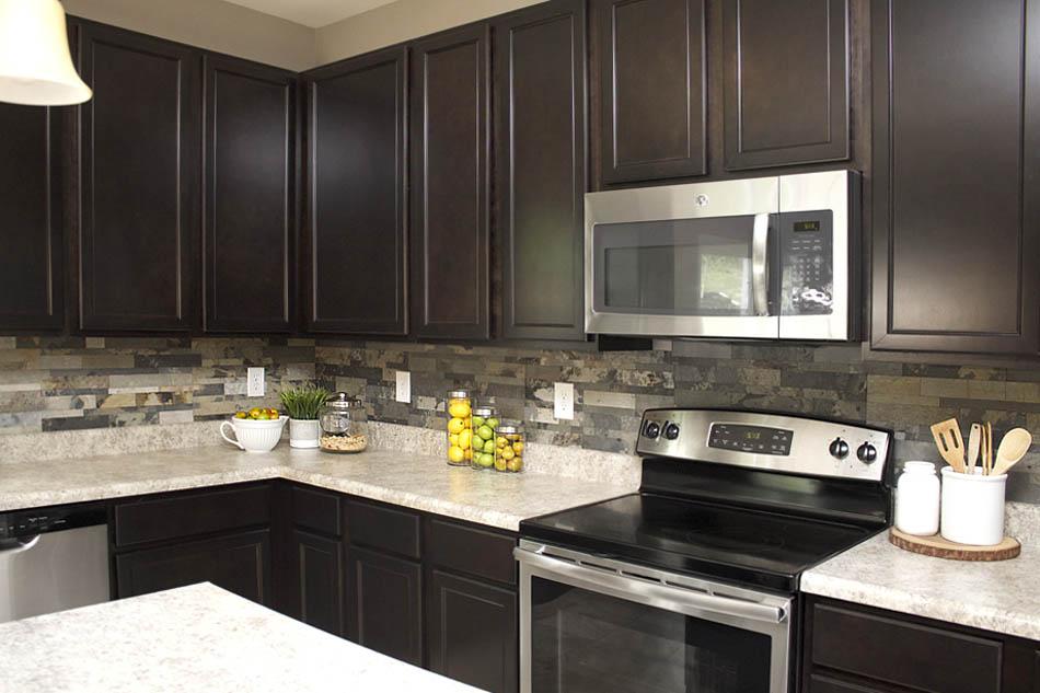 Faux Stone Kitchen Backsplash - How To Nest For Less on Granite Stove Backsplash  id=30060