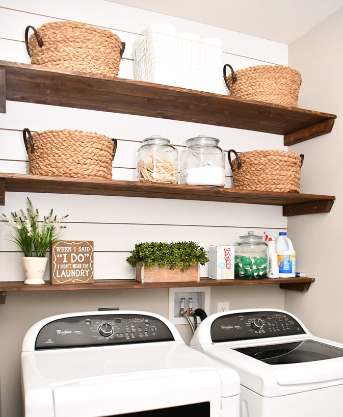 DIY Laundry Room Shiplap and Shelving - How to Nest for Less™ on Laundry Room Shelves Ideas  id=84123